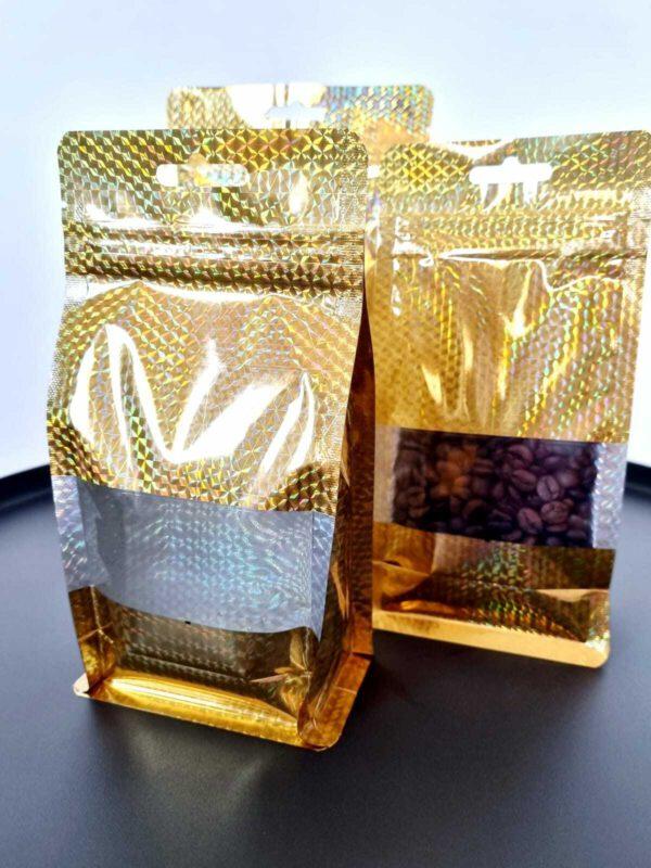 שקיות פסגור בצבע זהב לאריזה